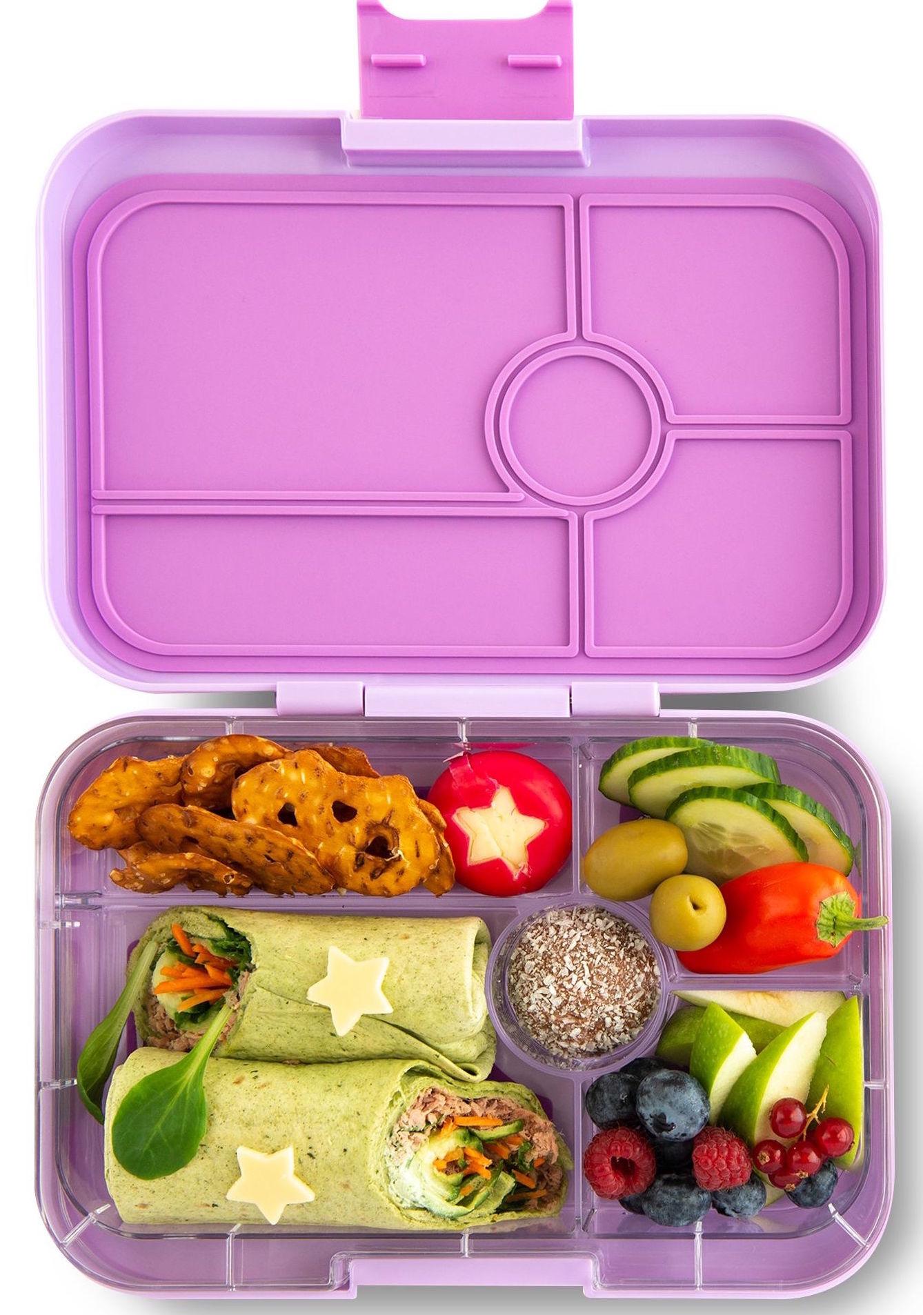 Yumbox Tapas XL lunchtrommel Lila paars / Bon appetit tray 5-vakken-2