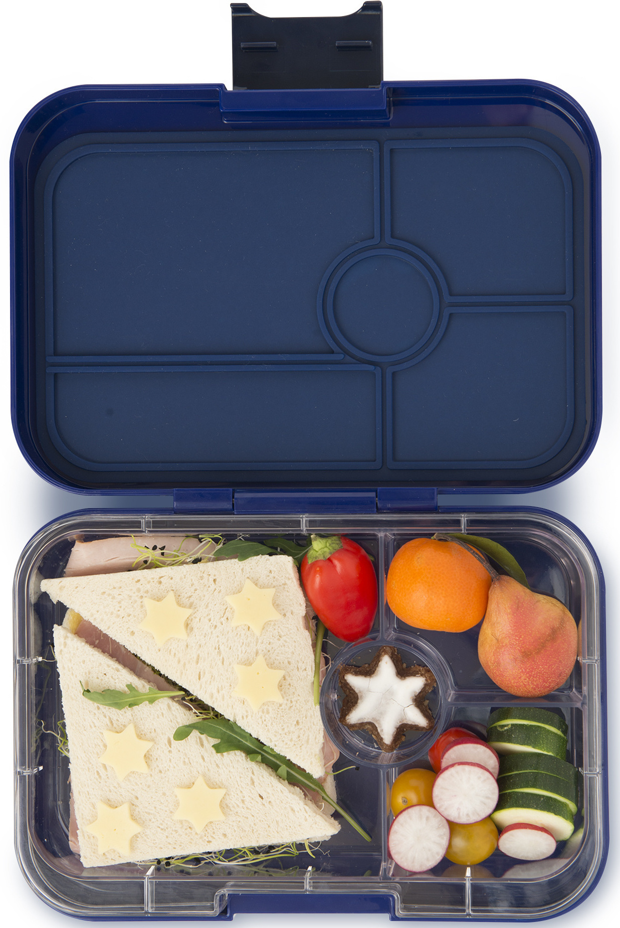 Yumbox Tapas XL 4-sections Portofino blue / Bike race tray 4 sections-2