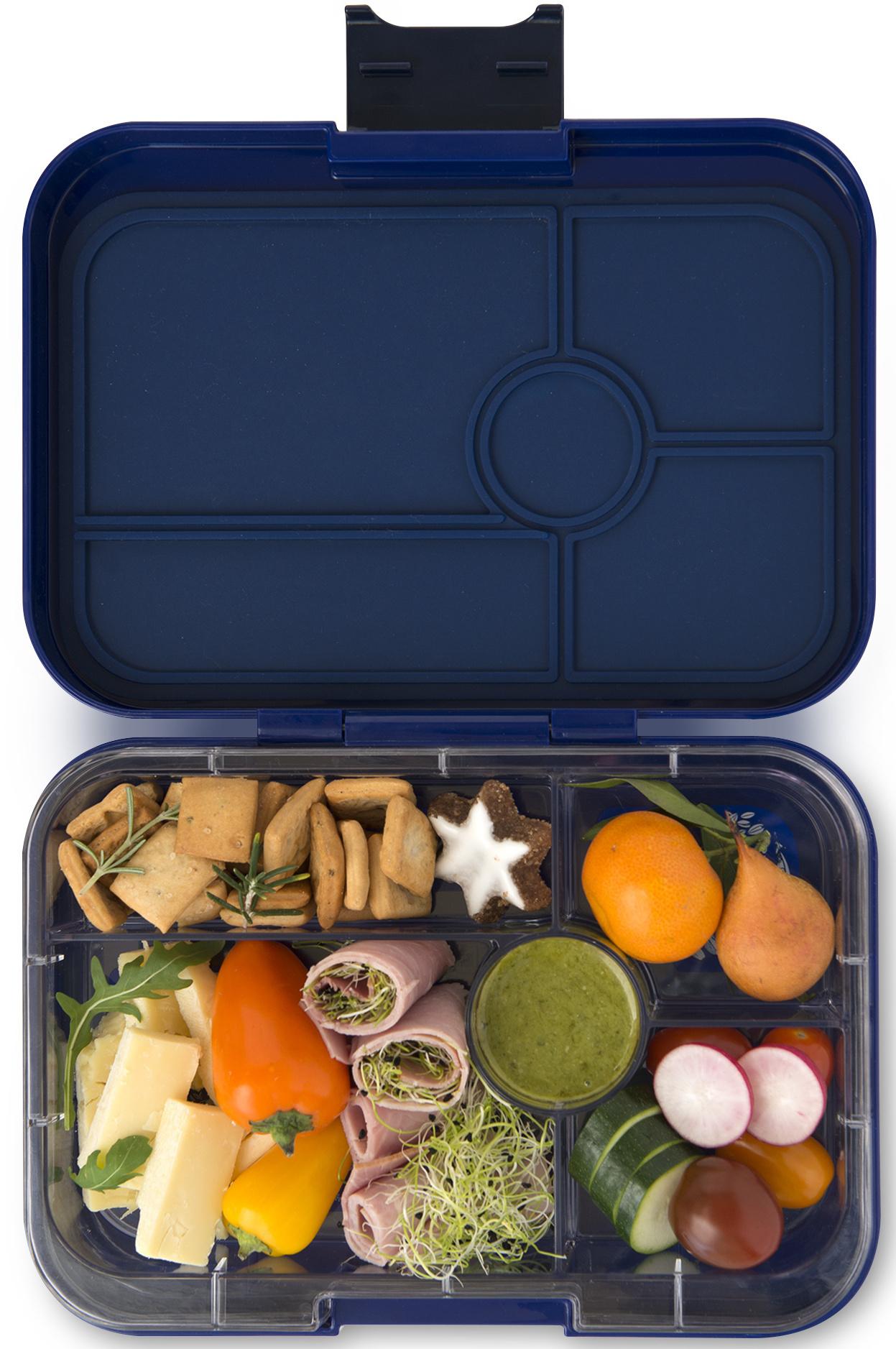 Yumbox Tapas XL lunchtrommel Portofino blauw / Bon appetit tray 5-vakken-2