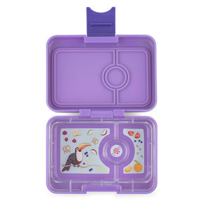 Yumbox MiniSnack box 3 sections Dreamy Purple / Toucan tray