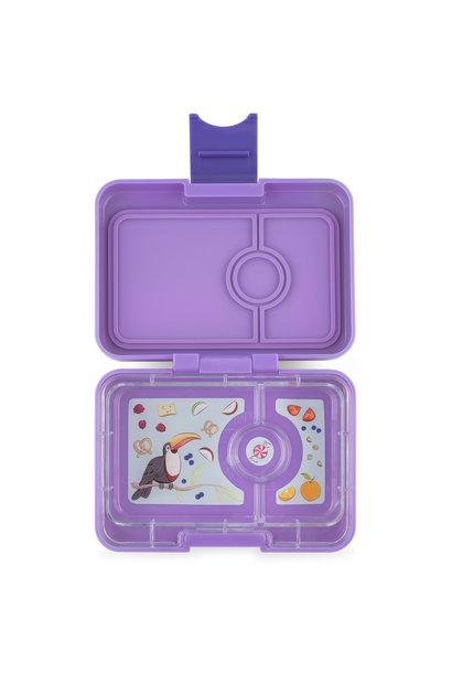 Yumbox MiniSnack 3-sections Dreamy Purple