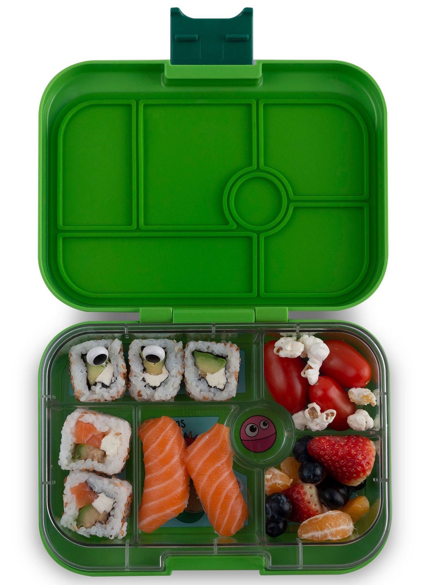 Yumbox Original 6-sections Go Green / Funny Monsters tray-2