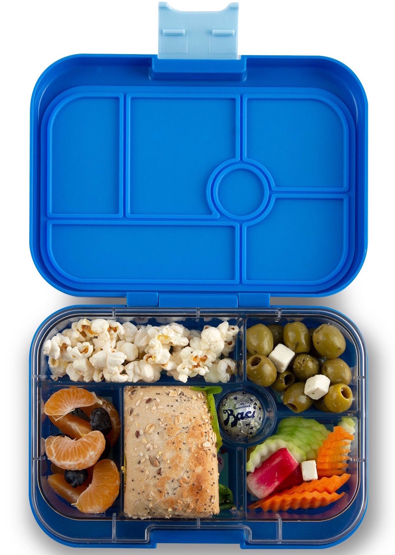Yumbox Original 6-vakken True blue / Funny Monsters tray-2