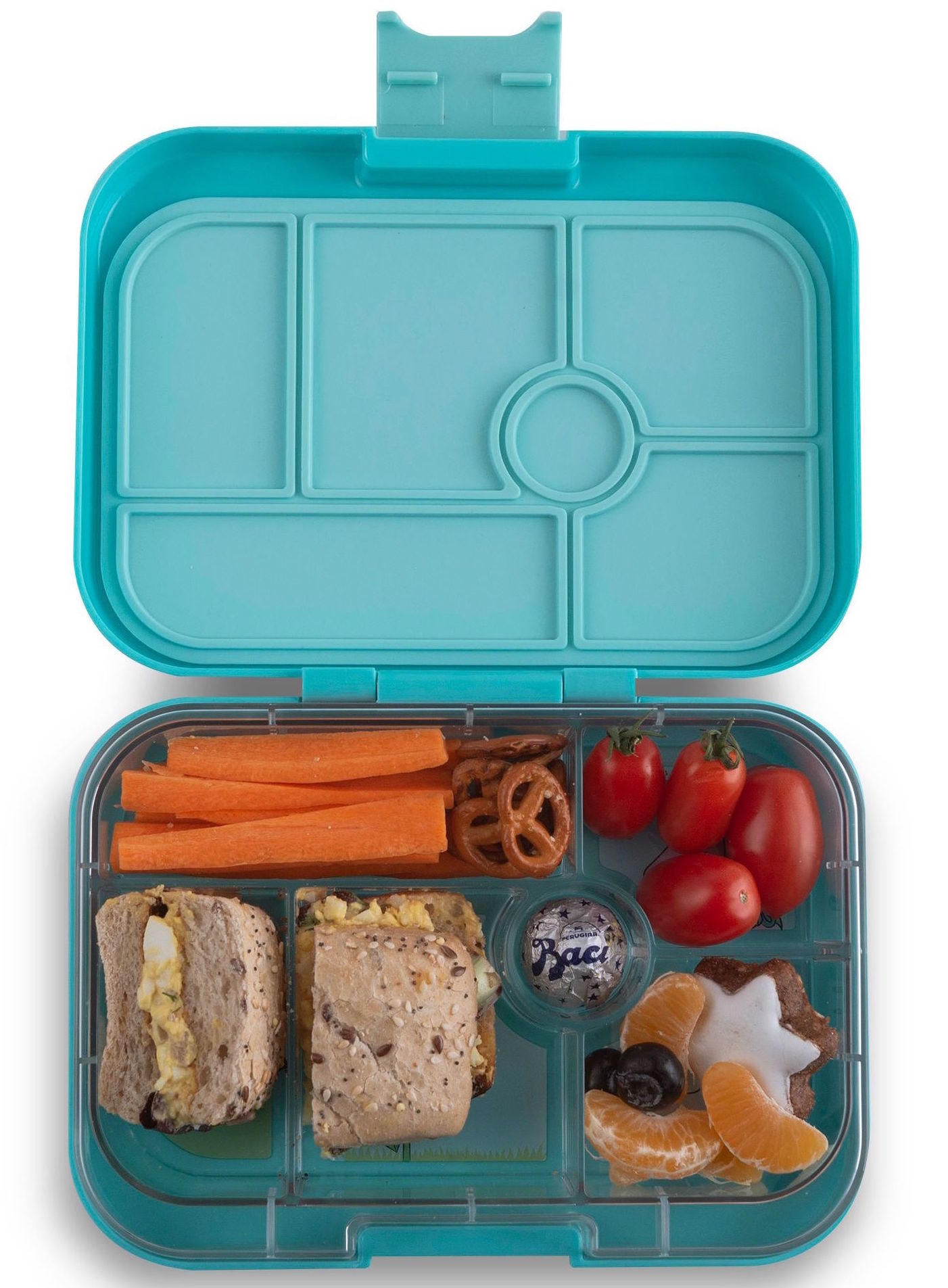 Yumbox Original 6-vakken Misty aqua / Unicorn tray-2
