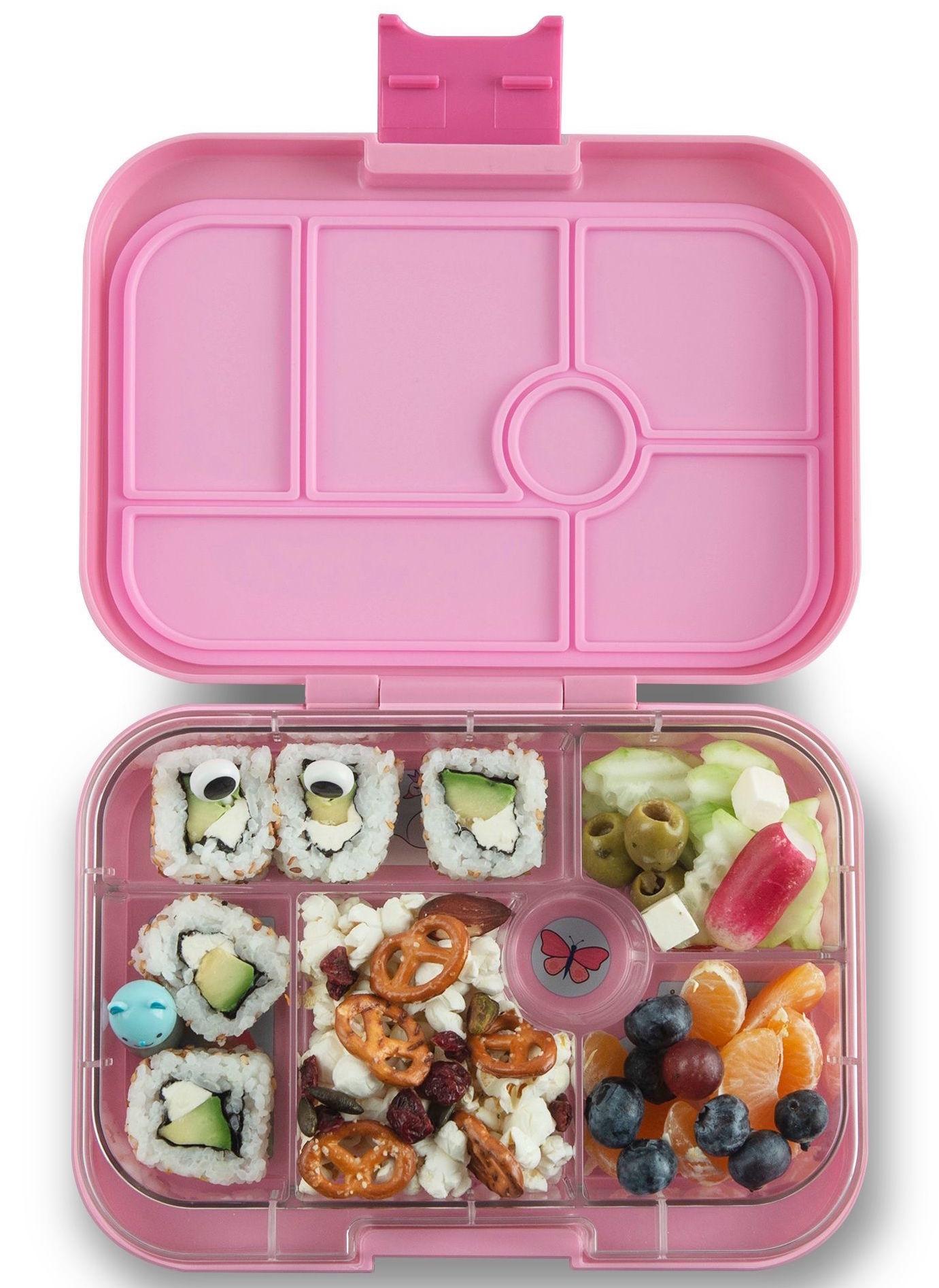 Yumbox Original 6-sections Power pink/ Unicorn tray-2