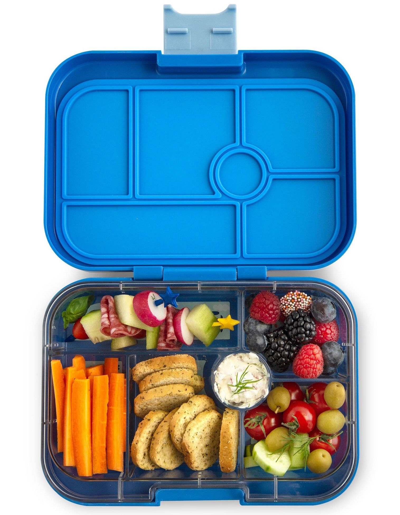 Yumbox Original 6-sections Jodphur blue / Explore tray-2