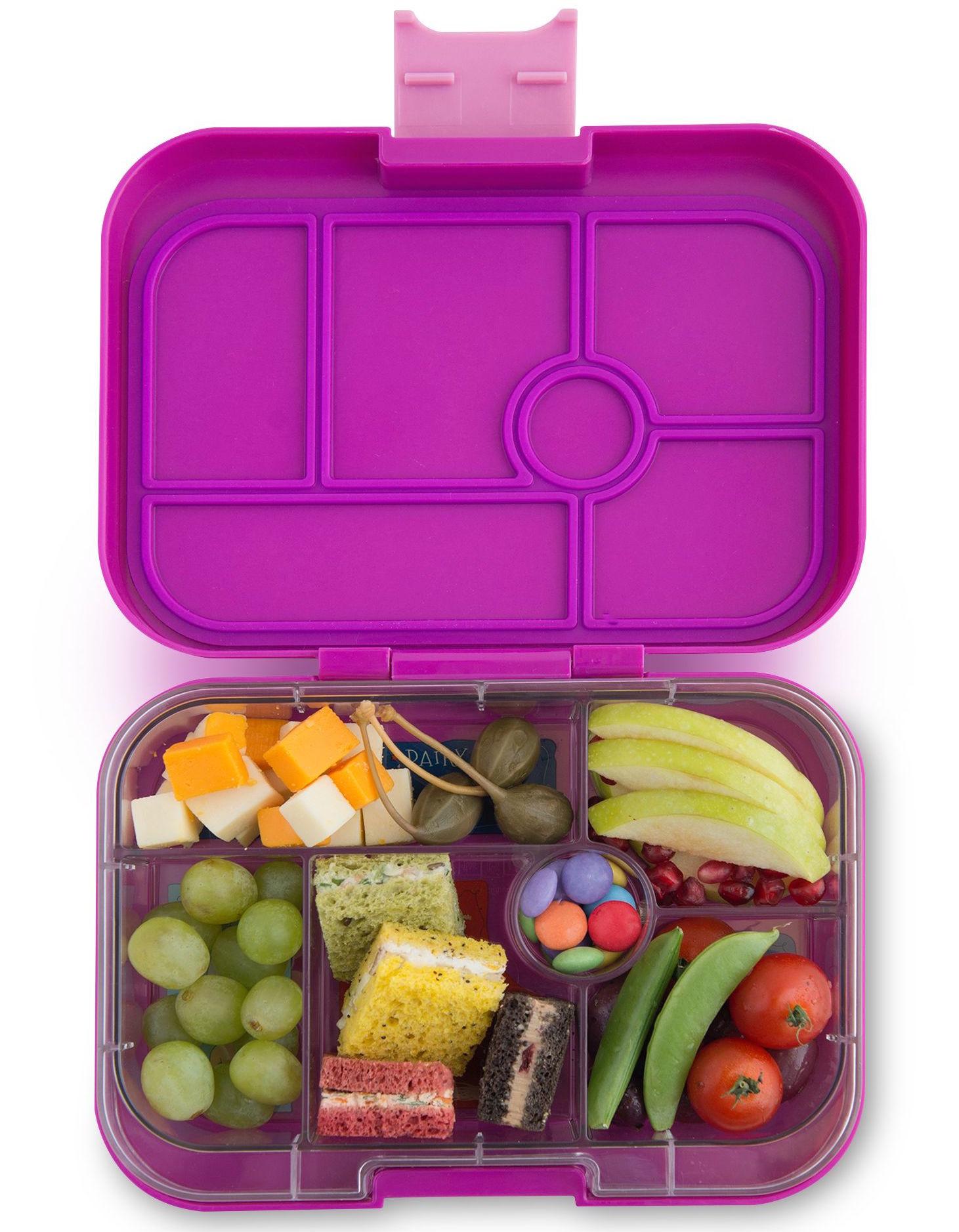 Yumbox Original 6-sections Bijoux purple / Paris tray-2