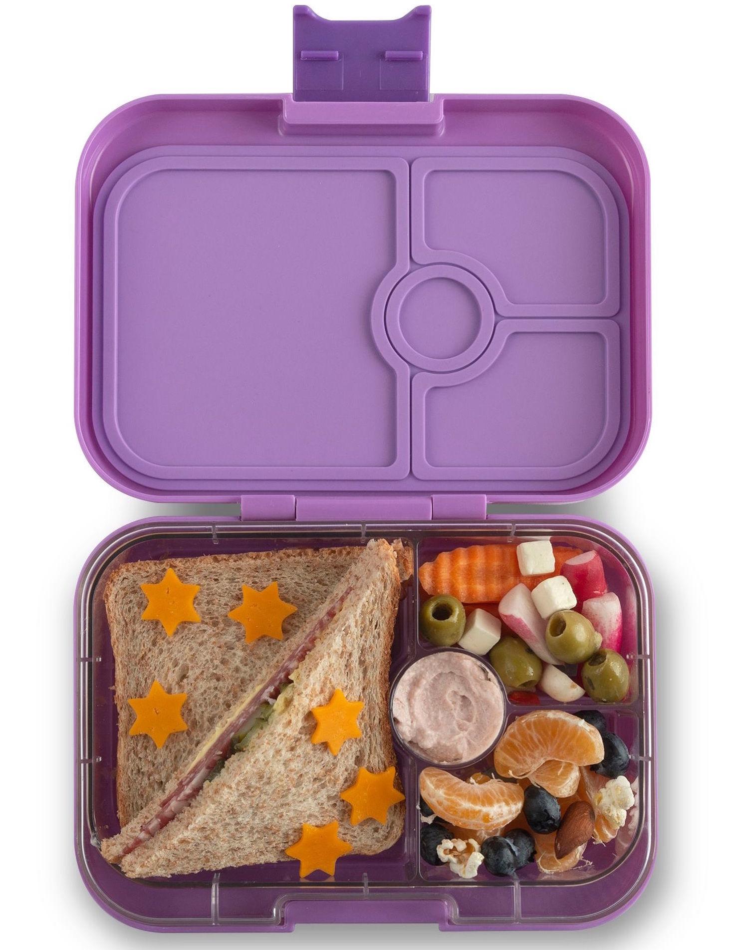 Yumbox Panino 4-sections Dreamy purple / Rainbow tray-2