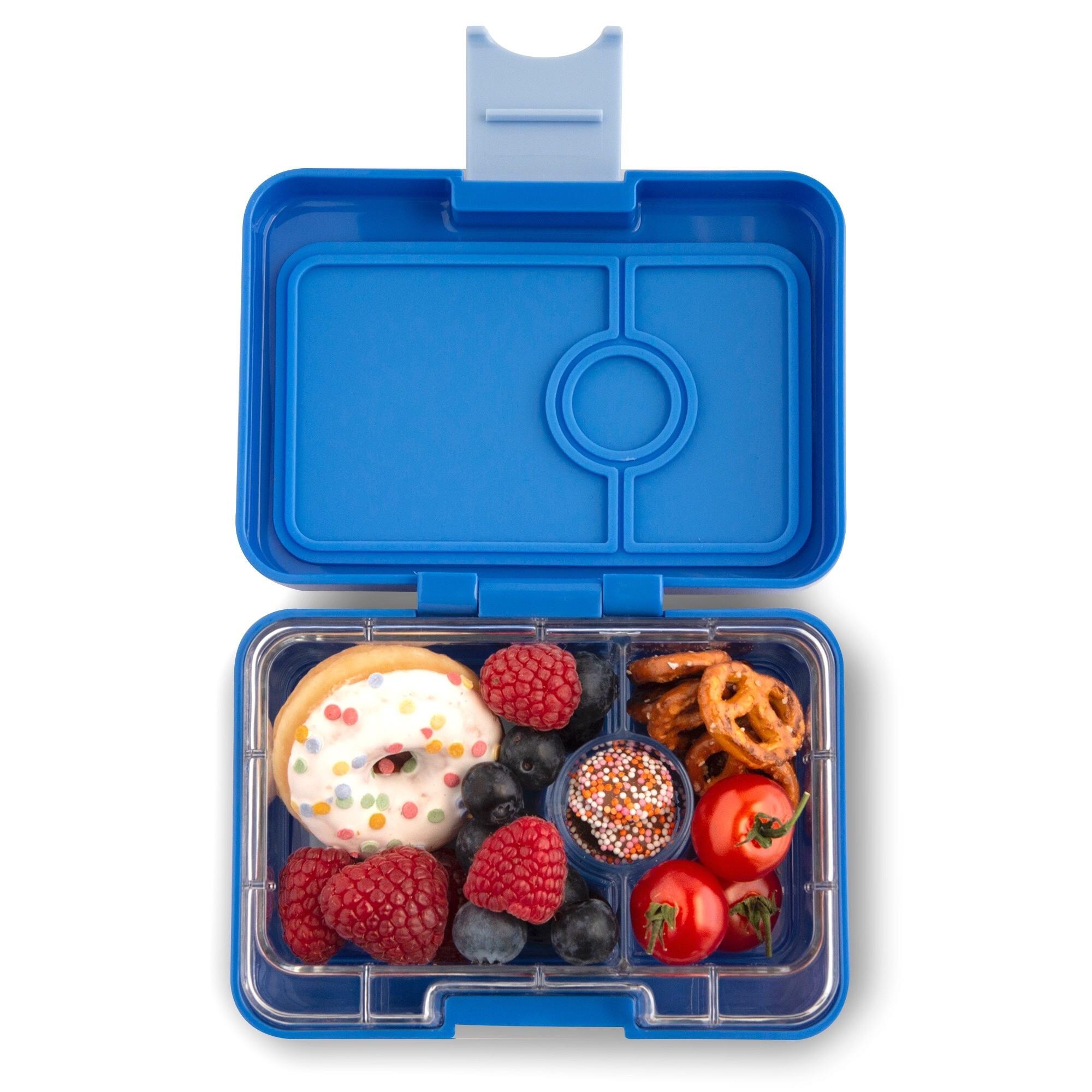 Yumbox MiniSnack 3-sections True Blue (Jodphur blue) / Toucan tray-2