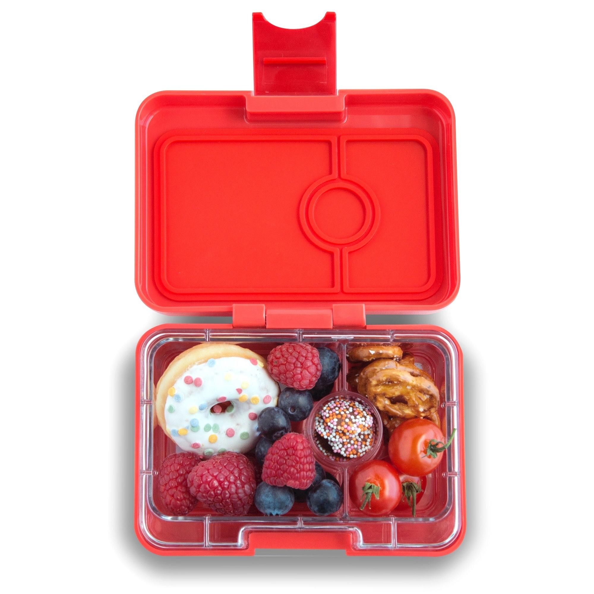 Yumbox MiniSnack broodtrommel 3 vakken Saffron oranje / Toucan tray-2