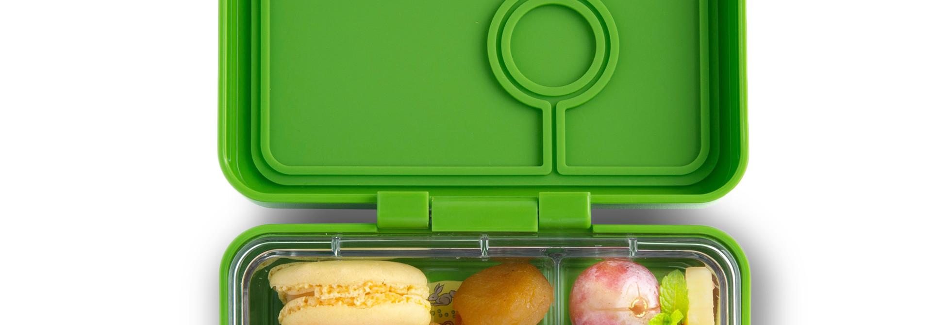 Yumbox MiniSnack 3-sections Congo groen / Toucan tray