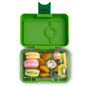 Yumbox MiniSnack broodtrommel 3 vakken Congo groen / Toucan tray