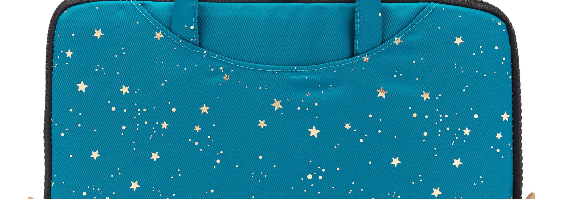 Yumbox Poche met handgrepen aqua / sterren