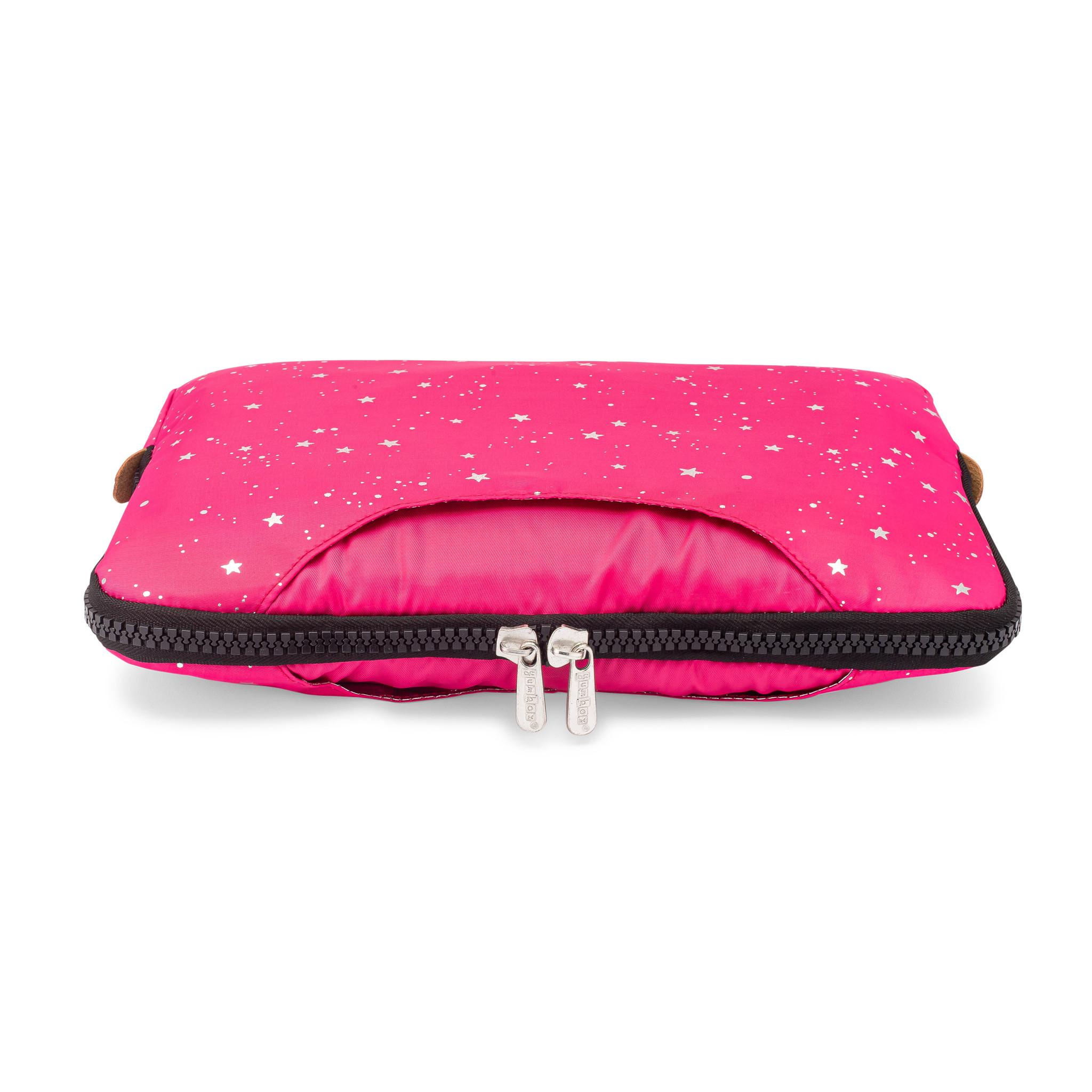Yumbox Poche met handgrepen roze / sterren-3