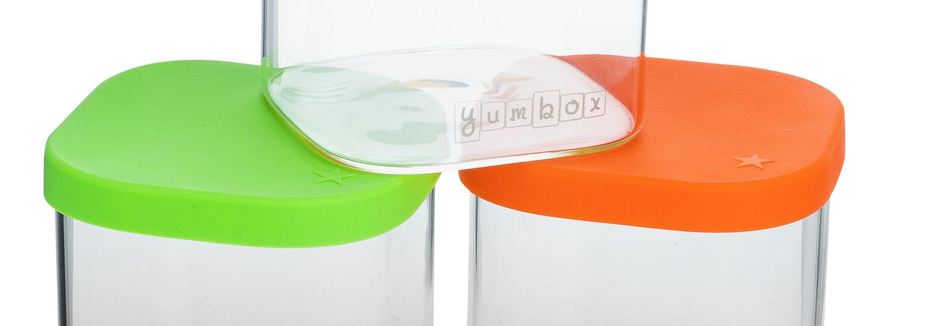 Yumbox Chop Chop 3 glass cubes Vibrant