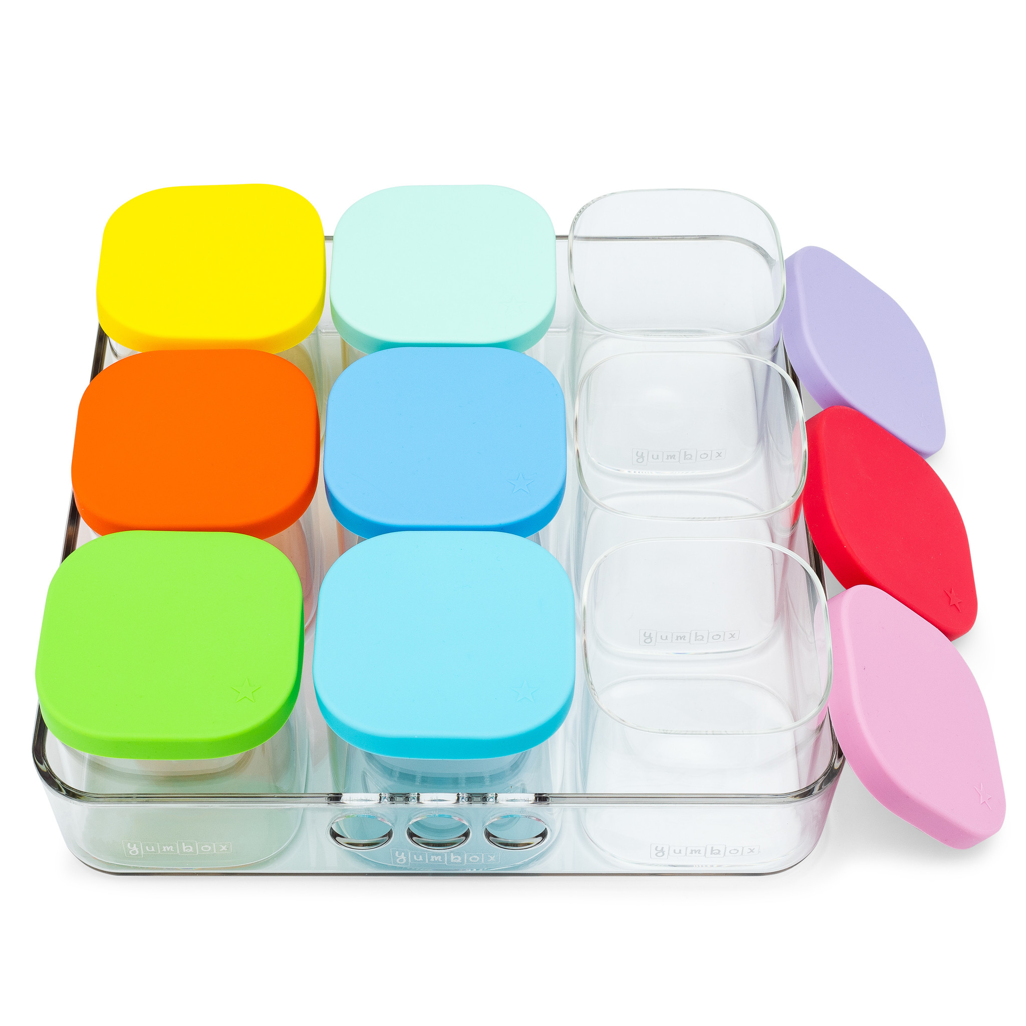 Yumbox Chop Chop tray, vierkant-4