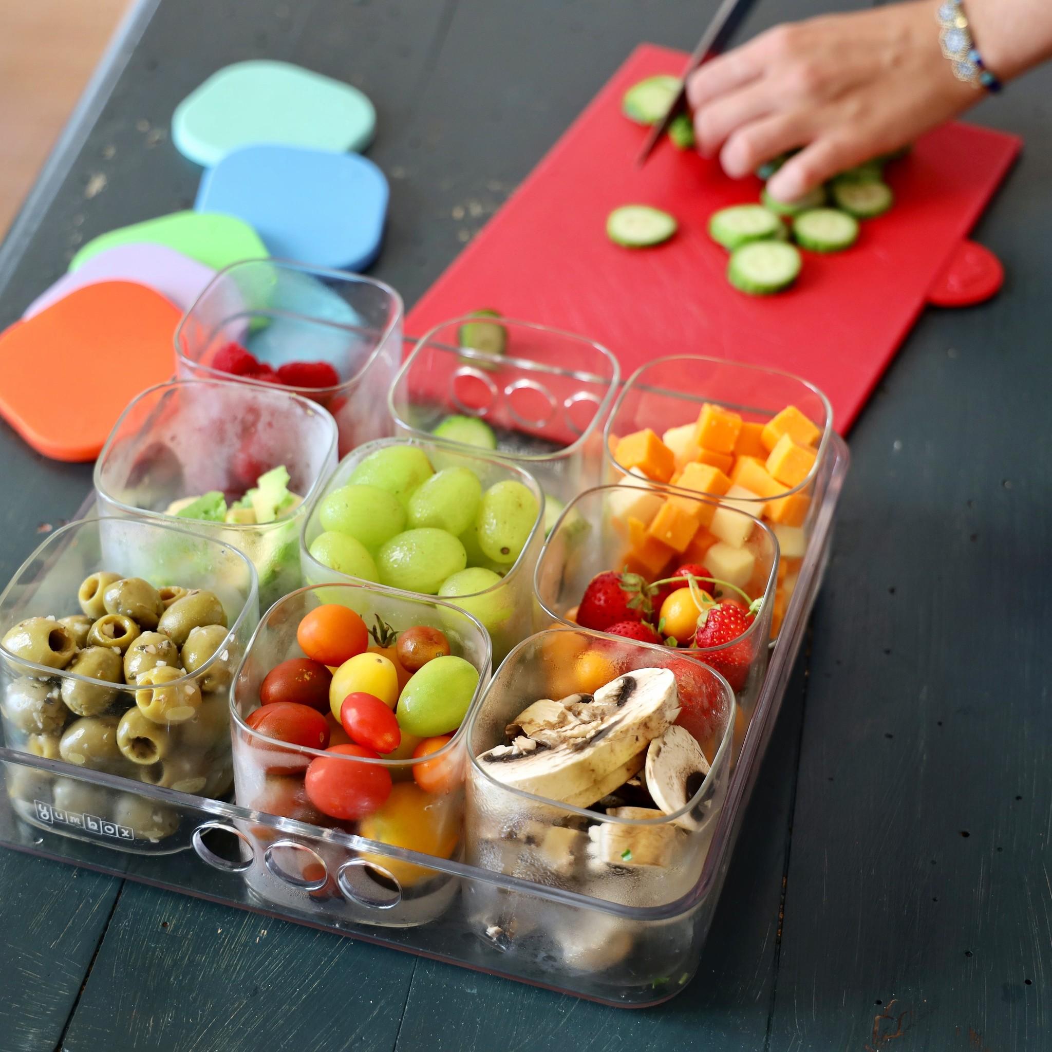 Yumbox Chop Chop tray, vierkant-13