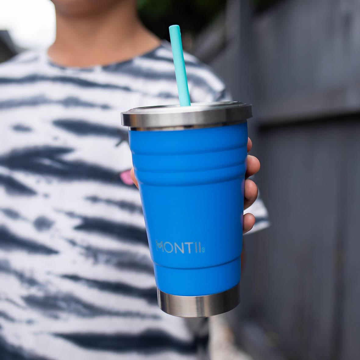 MontiiCo Straws - Silicone Mini Stopper Straw Set - Fruity Pop-3