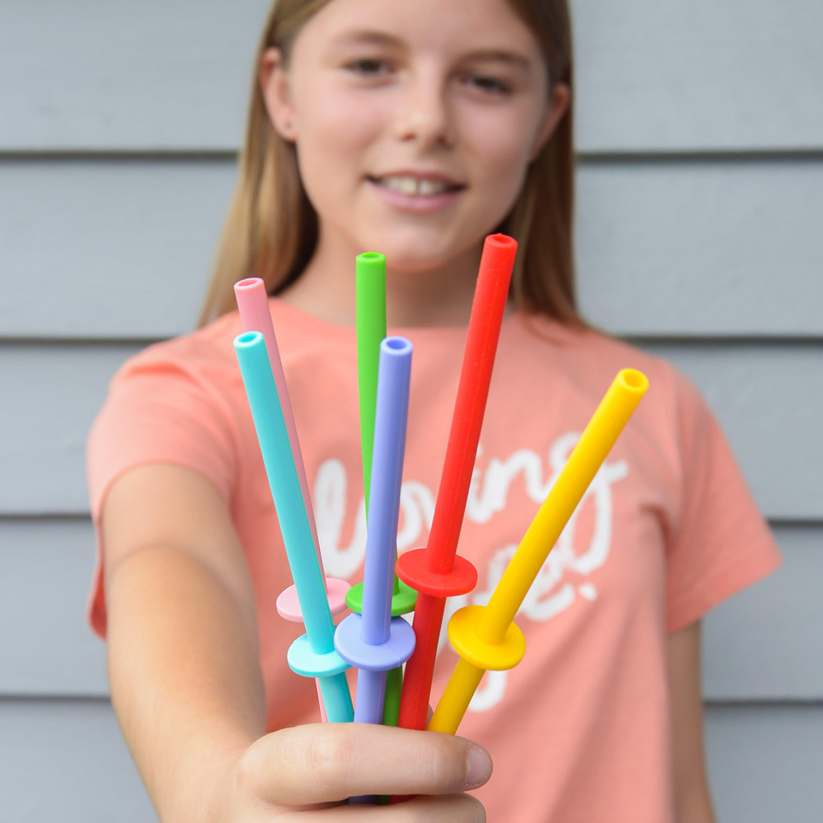 MontiiCo Straws - Silicone Mini Stopper Straw Set - Fruity Pop-2