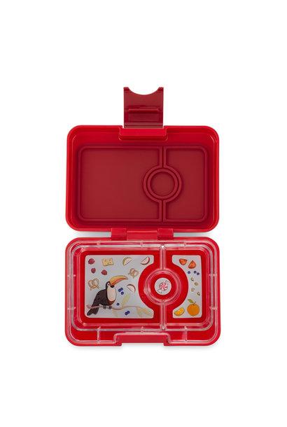 Yumbox MiniSnack 3-vakken Wow rood