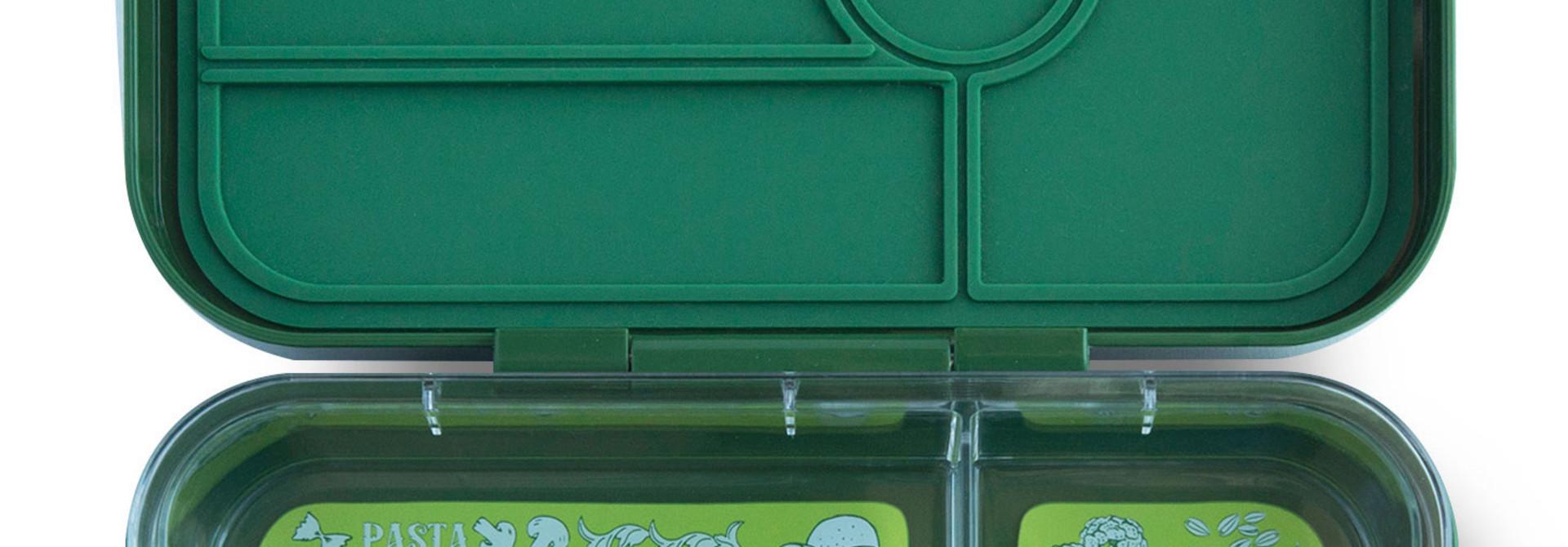 Yumbox Tapas XL lunchbox Brooklyn green / Bon appetit tray 5 vakken