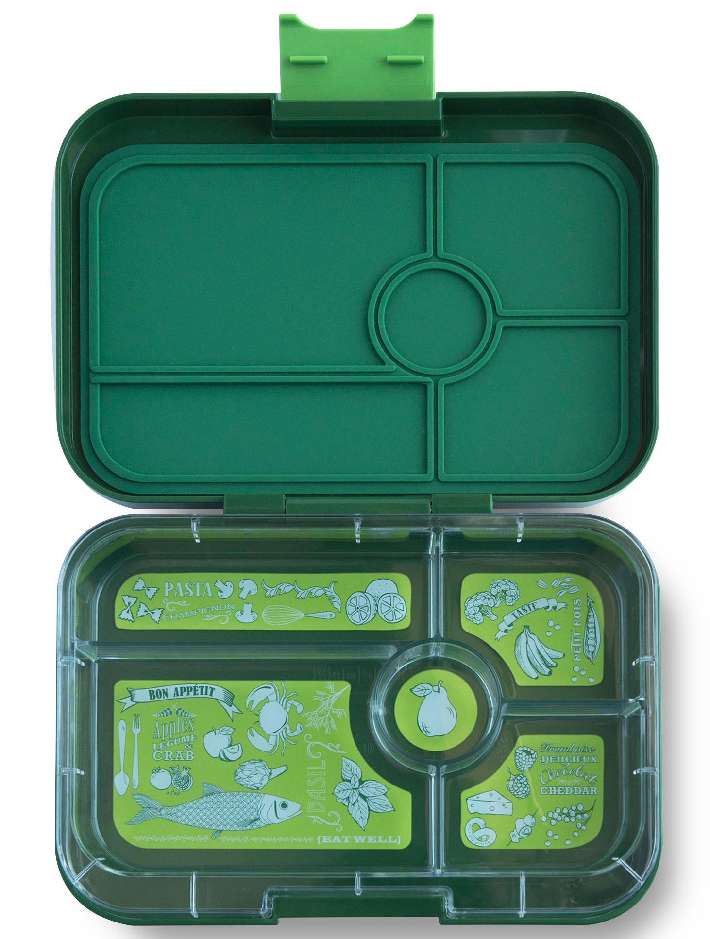 Yumbox Tapas XL lunchbox Brooklyn green / Bon appetit tray 5 vakken-1