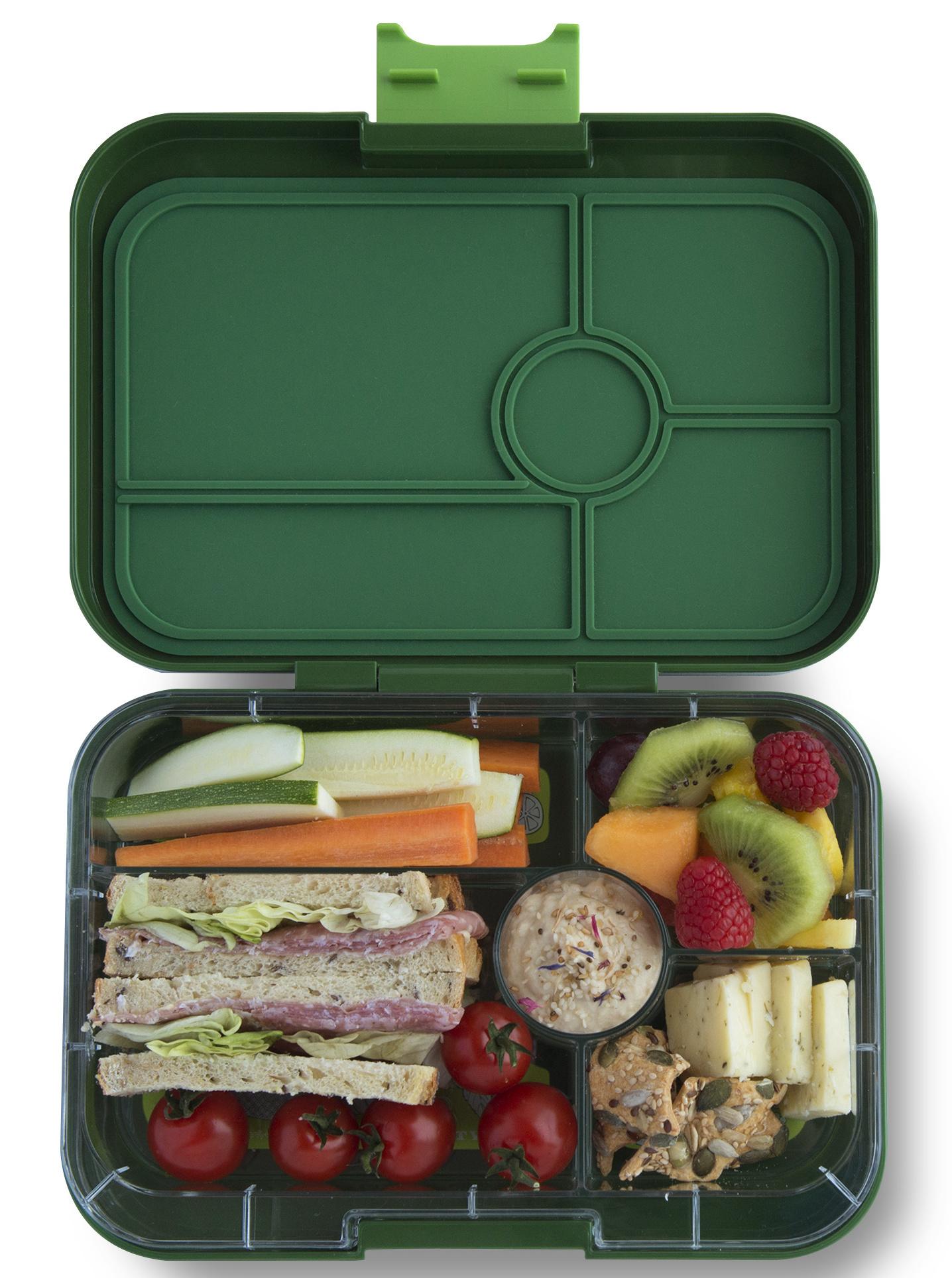Yumbox Tapas XL lunchbox Brooklyn green / Bon appetit tray 5 vakken-2