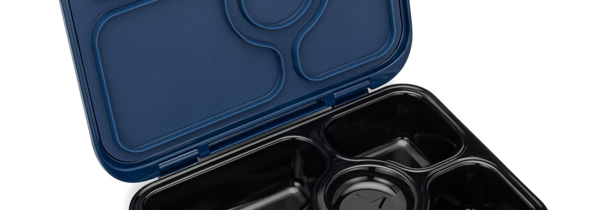 Stainless steel Bento Box with ceramic tray - Santa Fe blue