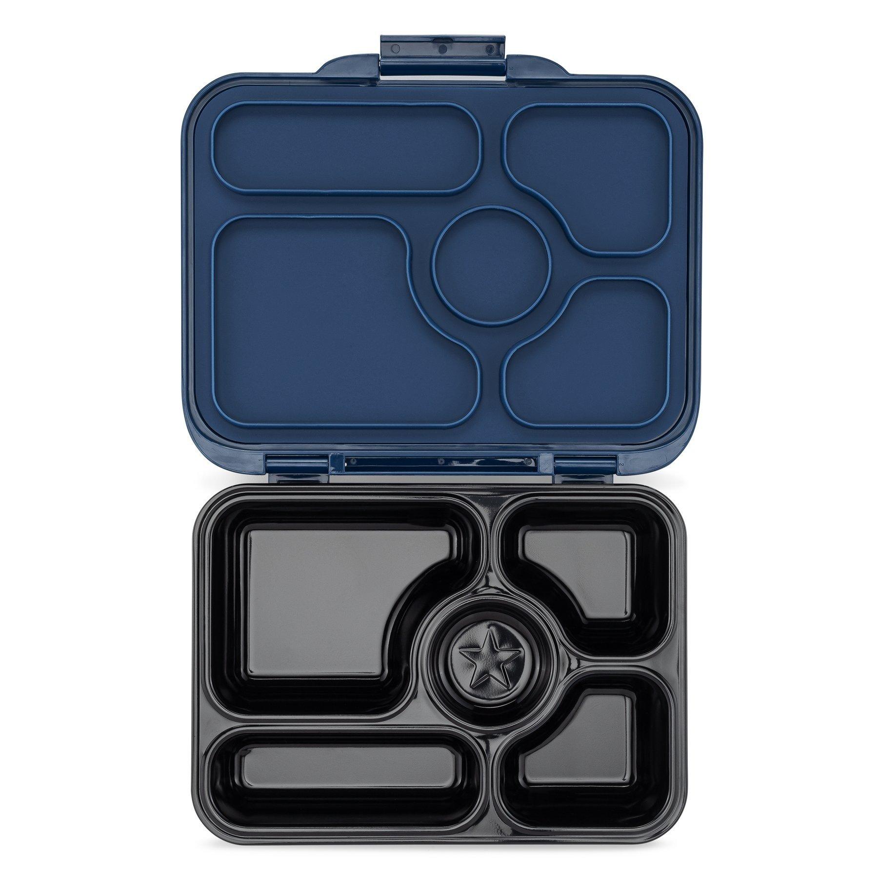 Stainless steel Bento Box with ceramic tray - Santa Fe blue-2