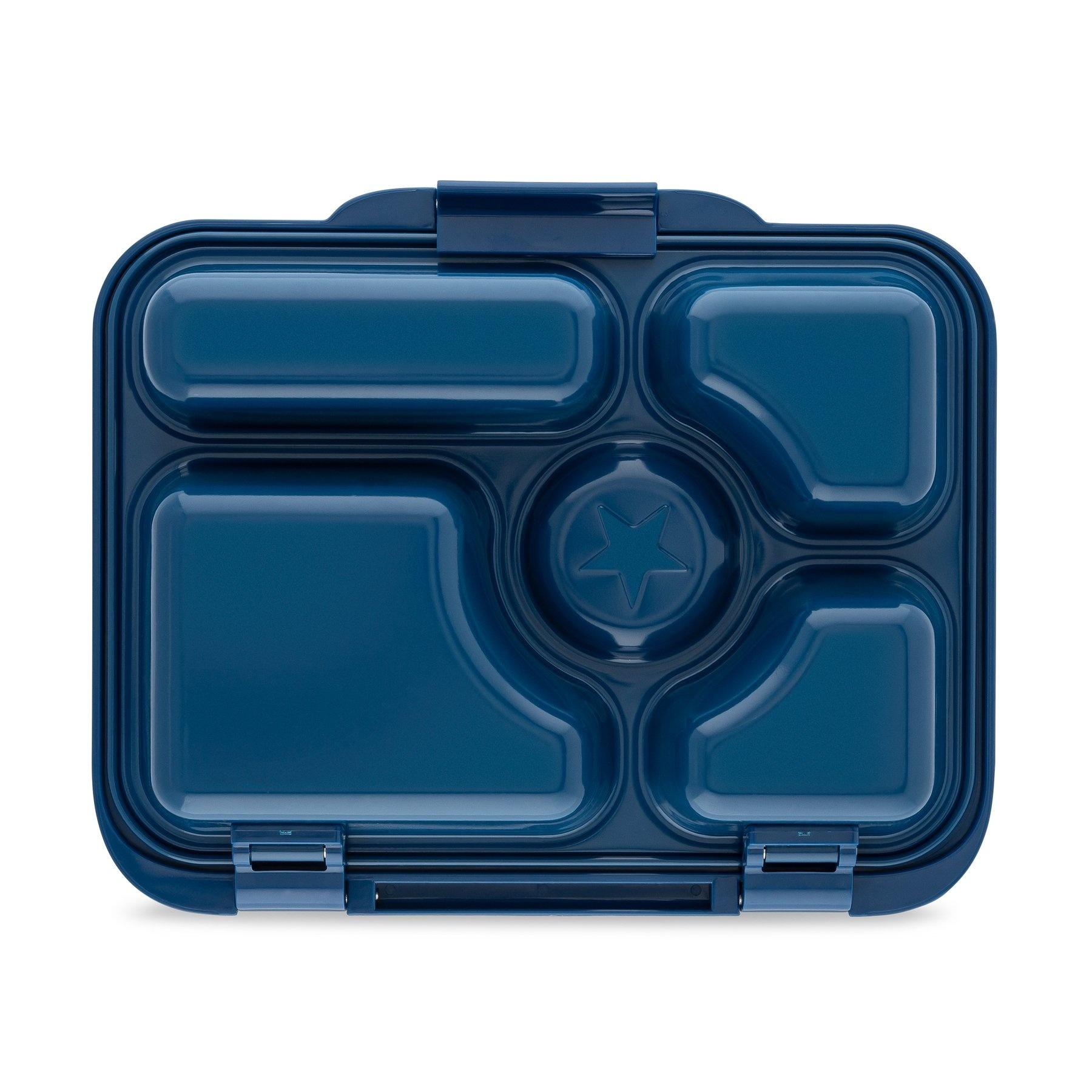 Stainless steel Bento Box with ceramic tray - Santa Fe blue-4