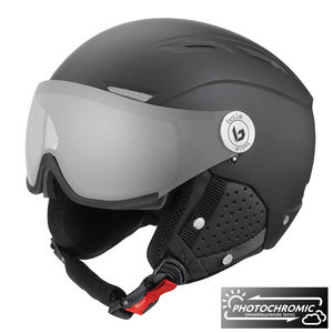 Bollé Backline Visor Premium Skihelm met vizier - 2019 | Photochromic | Matte Galaxy Black