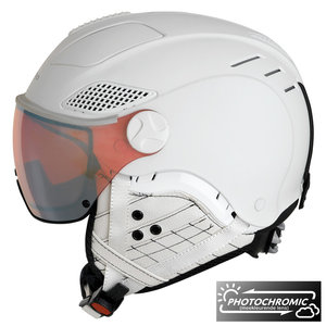 Mango Quota Free Skihelm Met Photochromic VQPW Vizier - 2019 - Wit