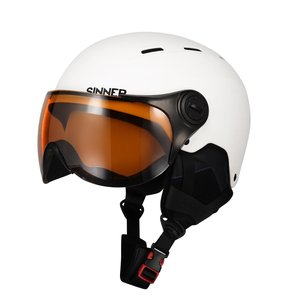 Sinner Typhoon Visor Junior Skihelm Met Vizier - 2019 - Wit