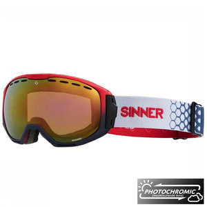 Sinner Mohawk Photochromic Skibril - Red Blue