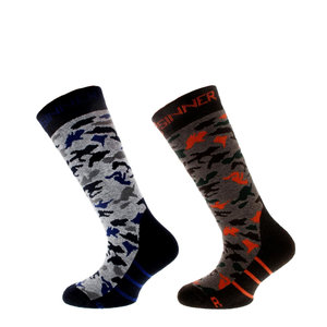 Sinner Camo Kids Boys Ski Sokken - Double Pack
