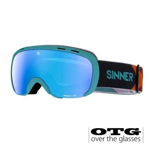 Sinner Marble OTG Skibril - Light Blue