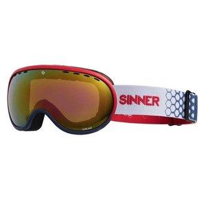 Sinner Sinner Vorlage Skibril - Rood Blauw