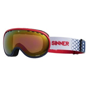 Sinner Vorlage Skibril - Red Blue