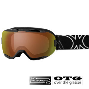 Slokker RB Photochromic OTG Skibril - Black