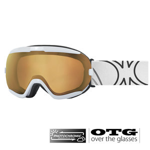 Slokker RB Photochromic OTG Skibril - White