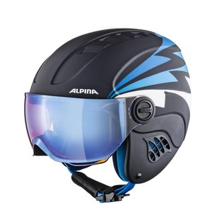 Alpina Carat Le Visor HM Junior Skihelm Met Vizier | 2019 | Nightblue Denim Matt