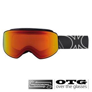 Slokker SP1 Photochromic OTG Skibril - Red + EXTRA LENS