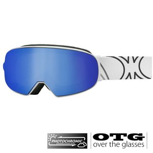 Slokker SP1 Photochromic OTG Skibril - Blauw + EXTRA LENS