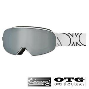 Slokker SP1 Photochromic OTG Skibril - Wit + EXTRA LENS