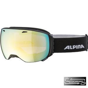 Alpina Alpina Big Horn QVM Skibril   Black Matt   Photochromic   Gold Mirror