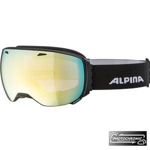 Alpina Big Horn QVM Skibril | 2019 | Black Matt | Photochromic | Gold Mirror