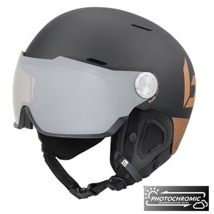 Bollé Might Visor Premium Skihelm met vizier - 2019 | Photochromic | Matte Black Blush Gold