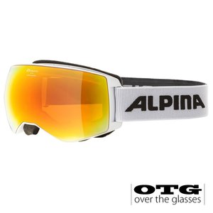 Alpina Naator HM OTG Skibril | 2020 | White | DoubleFlex Hicon Mirror Lens