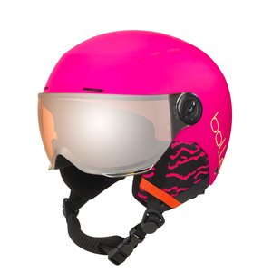 Bollé Quiz Junior Skihelm Met Vizier | 2019 | Matte Hot Pink | Orange Gun Cat.2