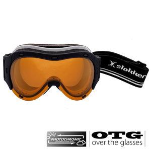 Slokker RQ Photochromic OTG Skibril - Zwart